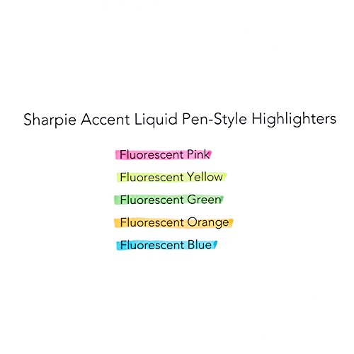 Sharpie 24527PP Accent Sharpie Pen-Style Highlighter, Yellow, 5-Pack Photo #4