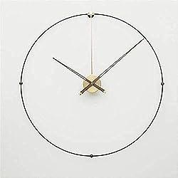 yaoyao Wall Clocks Clock,Wall Clocks Oversized Large Metal Wall Clock Modern Design European Simple Iron Art 3D Decorative Hanging Clocks Wall Watch Home Decor 80Cm
