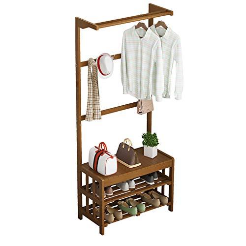 Amazon.com: CXQ - Perchero de pie minimalista de bambú ...