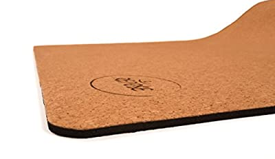 "Repose Eco-friendly yoga mat, Organic Cork & Natural Rubber Mat for Earth and Health – 72"" long 24"" wide 4mm Thick, Non-Toxic, For Hot Yoga, Pilates and Exercise! Yoga mat strap included"