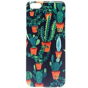 For iphone 4s Case, Fashion Cactus Plants Pattern Protective Hard Phone Cover Skin Case For iphone 4s +Screen Protector