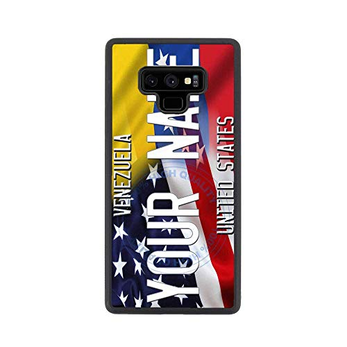 (BRGiftShop Personalize Your Own Mixed USA and Venezuela Flag Rubber Phone Case For Samsung Galaxy Note 9)