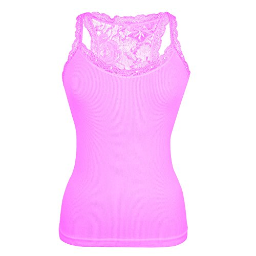 Glamexx24 - Chaleco - para mujer rosa claro