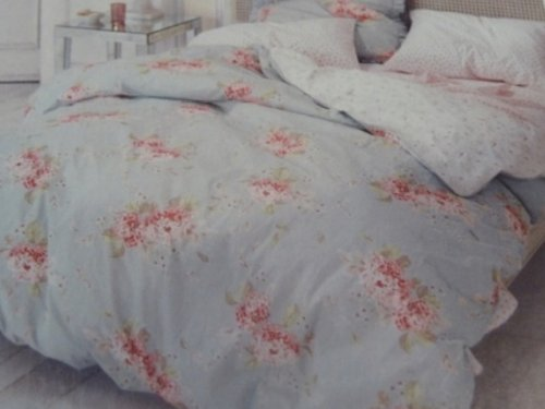 amazoncom simply shabby chic hydrangea duvet cover set blue floral twin size bedding home kitchen blue shabby chic bedding