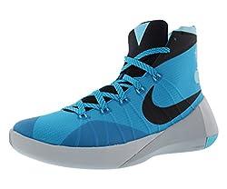 Nike Mens Hyperdunk 2015 Bl Lgnblckpr Pltnmwlf Gry Basketball Shoe