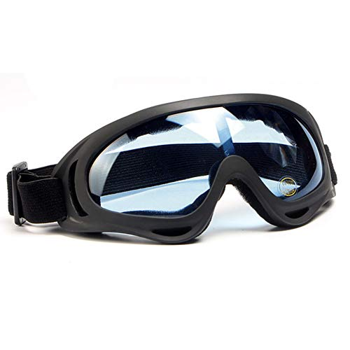 SPOSUNE Motorcycle Goggles for Men Women,Airsoft Goggles UV400 Protective Light Anti-Glare Detachable Lenses Windproof Dustproof Ski Goggles Safety Goggles