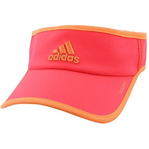 45a1db16 adidas Women's Adizero II Visor Cap, Shock Red/Sun Glow, One Size