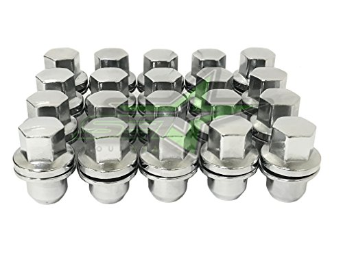 SET Group USA Range Rover Factory Style OEM Chrome Lug Nuts 14x1.5 | Fits Range Rover LR2 LR3 LR4 Discovery Evoque
