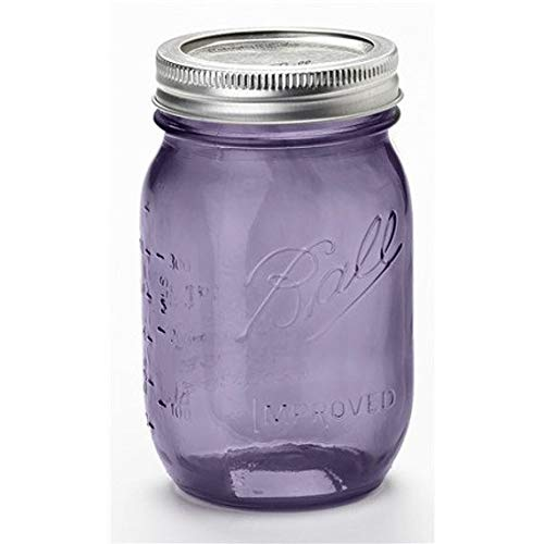 Ball Mason Jar-16 oz. Purple Glass Heritage Collection - Set of 4