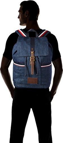 Tommy Hilfiger Herren Casual Story Backpack Denim Rucksack, Blau (Denim), 20 x 47 x 33 cm