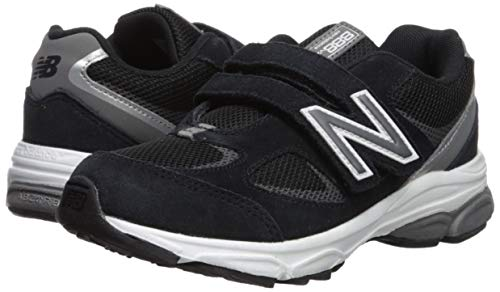 New Balance Boys' 888v2 Hook and Loop Running Shoe Black/Grey 2 XW US Infant by New Balance (Image #6)