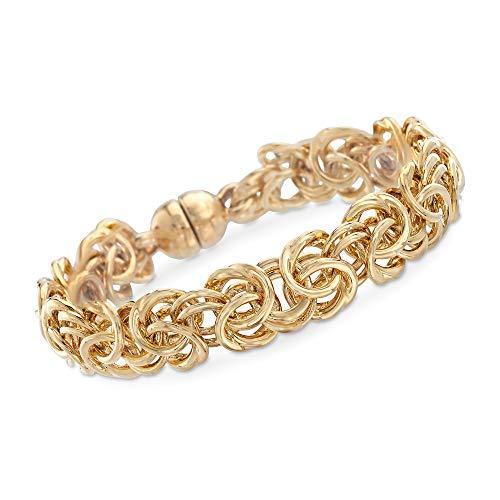 Ross-Simons Italian Andiamo 14kt Yellow Gold Byzantine Bracelet ()