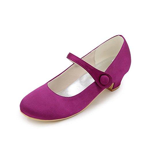 Formale Festa Serata Purple Primavera Estate L Sposa E Fibbia yc Matrimonio Da Donna Scarpe Raso Ballerina Blu Nastro Piattoviola Rosso WOwHvOqp0P