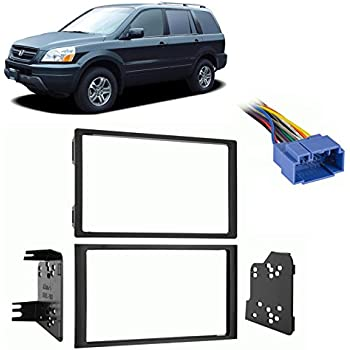 fits honda pilot 2003 2005 double din stereo harness radio install dash kit car. Black Bedroom Furniture Sets. Home Design Ideas