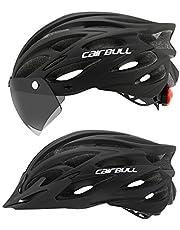 Cairbull Cycling Helmet Road Bike Helmet with Goggle/Visor/Lamp Three uses 54-61 cm Adjustable