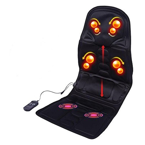 Body Massaging Cushion, 8-Motor Heating Ventilated Seat Cushion for Car,Home and office Relaxation Back Neck legs (US Plug)