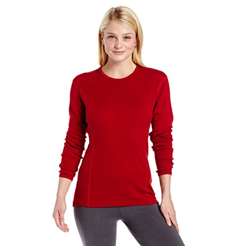 Minus33 Merino Wool Women's Ossipee Midweight Crew, True Red, XX-Large