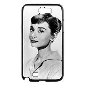 chen-shop design C-EUR Diy Phone Case Audrey Hepburn Pattern Hard Case For Samsung Galaxy Note 2 N7100 high XXXX