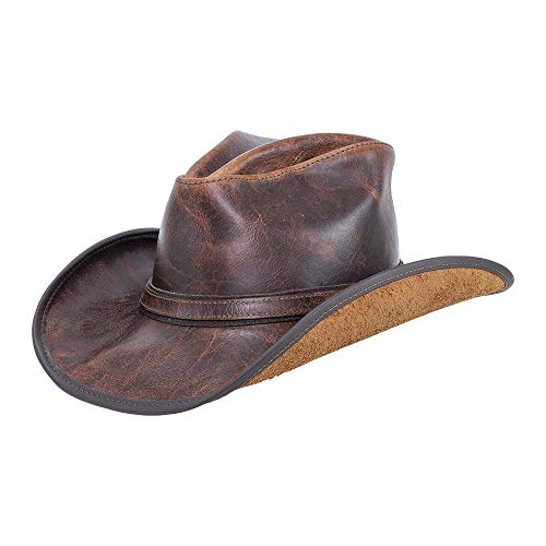 (American Hat Makers Cyclone-Ranger Band by Double G Hats Western Cowboy Leather Hat, Firewater -)
