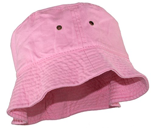 Ted and Jack - Beachside Solid Cotton Bucket Hat in Pale Pink size - Porters Apparel