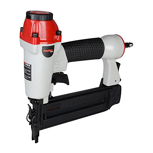 PowRyte 18 Gauge Air Brad Nailer with Tool-Free Jam Release Mechanism - 5/8-inch to (18g Brad Nailer)