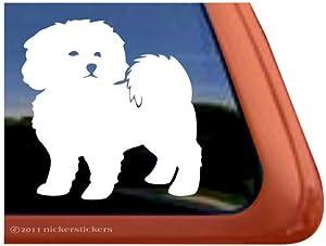 bichon frise dog vinyl window auto decal sticker - Frise Vinyle