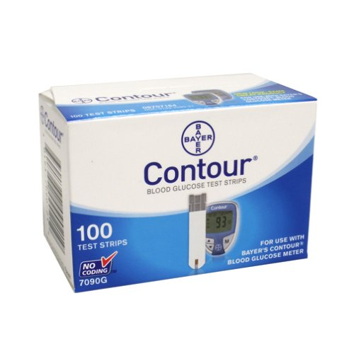 Box of 100 Bayer's Contour Blood Glucose Test Strips Retail BAYER HEALTHCARE LLC MS7090
