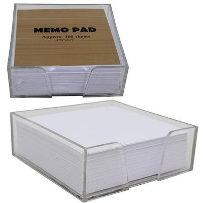 Cube Memo Pad (Desktop Memo Pad Notes - 300 Sheets In Clear Lucite Cube)
