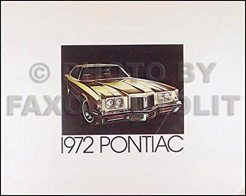 - 1972 Pontiac Sales Brochure Original