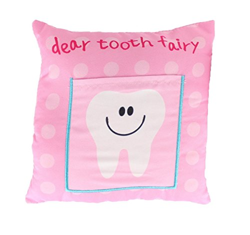 - Gosh! Designs Children's Boys/Girls Tooth Fairy Money Pillow Pink Cushion with Note/Letter Pocket 30cm
