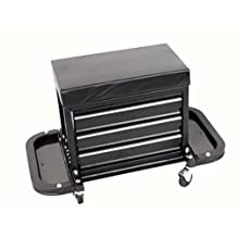 MaxWorks MW-0206 3-Drawer Rolling Tool Chest Seat (with Magnetic Side Trays), 1 Pack