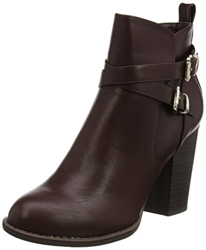 Femme burgundy Bottines 010 Dorothy Afla Perkins Buckle Dbl Rouge R0WCnXBPT