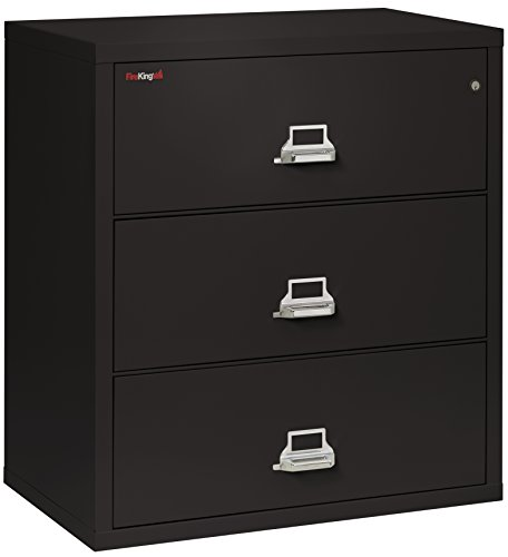 FireKing Fireproof Lateral File Cabinet (3 Drawers, Impact Resistant, Waterproof), 40.25