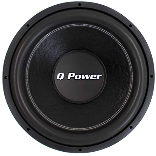 """Q-POWER QPF12 12"""" 1700W Deluxe Series Dual Voice Coil Car Audio Power Subwoofer"""