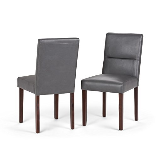 Simpli Home Ashford Parson Dining Chair, Stone Grey (Set of 2)