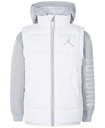Nike Air Jordan Big Boys' Performance Vest Jacket (White, X-Large) by NIKE