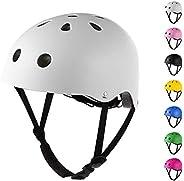 Sposuit Skateboard Helmet, Comfortable Wearing for Kids Youth Adult, Adjustable Helmet for Skateboarding Cycli
