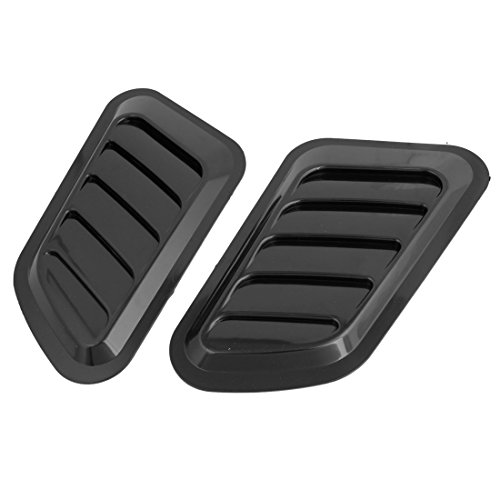 uxcell Pair Black Plastic Car Engine Hood Air Scoop Vent Side Fender - Hood Vents Edge
