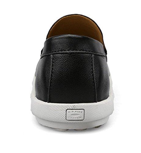 Tda Menns Slip-on Uformell Komfort Skinn Kjøre Penny Loafers Kle Forretnings Sko Svart