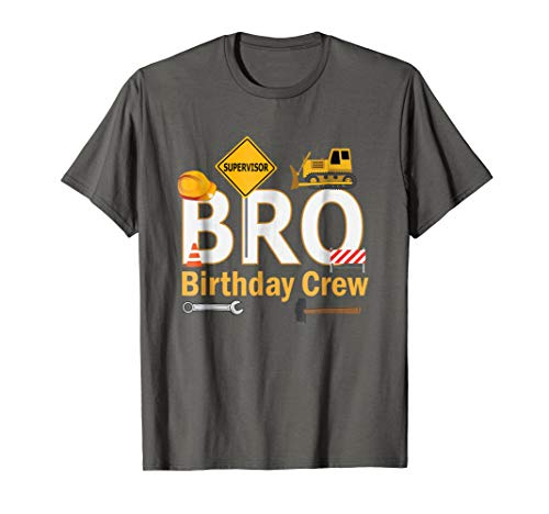 Brother Birthday Crew For Construction Birthday Party Shirt