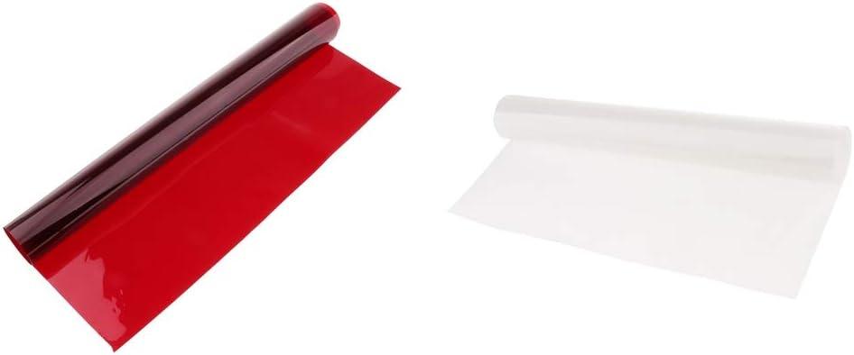 White Color Gel Filter Film Gel Sheet for Video Light Studio Flash Strobe Red 15.7 x 9.6 in// 40 x 50 cm Color Correction Gels