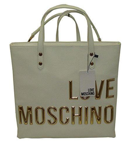 borsa zaino MOSCHINO LOVE JC4083 shopper backpack рюкзак BIANCO nappa pu