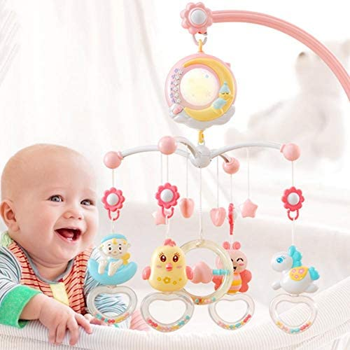 Sunronal Juguete móvil de cuna musical para bebés, móvil de cuna ...