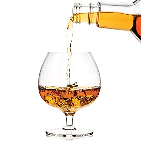 Luxbe – Cognac Brandy Crystal Small Glasses Snifter, Set of 2 – Handcrafted – Good for Bourbon Whiskey – 12-ounce