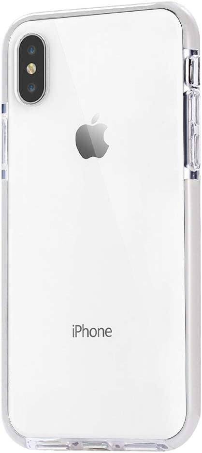 JAHOLAN iPhone X Case, Clear Case Flexible TPU Hybrid Shockproof Anti-Scratch Slim Thin Bumper Phone Case for Apple iPhone X 2017 / iPhone Xs 2018 (5.8 inches) - White