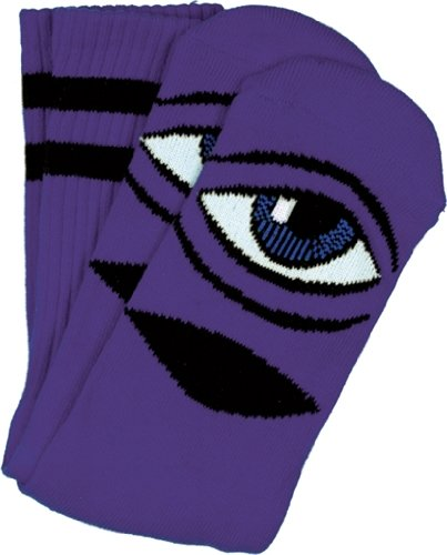 Toy Machine Sect Eye Iii Crew Socks-Purple 1 Pair
