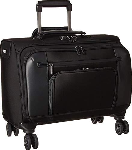 Halliburton Briefcase Zero Black (Zero Halliburton PRF 3.0-4-wheeled Business Case Briefcase, Black, One Size)
