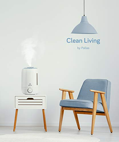 Pallas 2019 Humidifier - 5L Cool Mist Ultrasonic Humidifier for Bedroom, Baby, Home, Vaporizer for Large Room with Adjustable Mist Knob 360 Rotatable Mist Outlet by Pallas (Image #4)