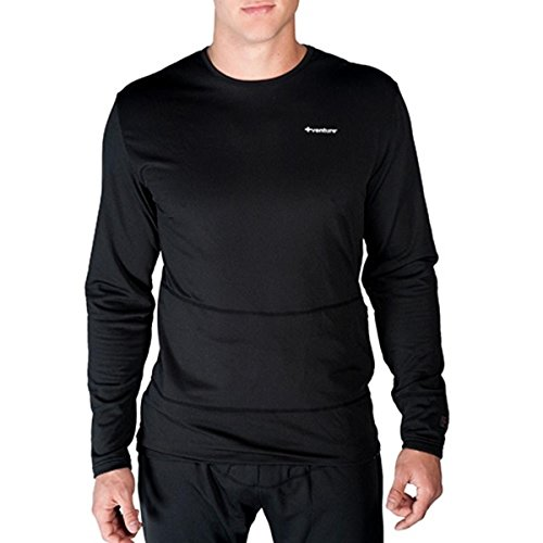 VentureHeat Battery Heated Base Layer Top with Tri-Zone Heating Area (Black, Small)
