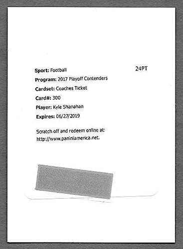2017 Contenders Coaches Ticket  300 Kyle Shanahan Autograph Redemption Card